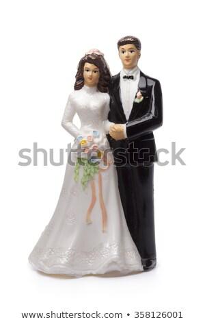 Düğün pastası detay gelin damat sevmek Stok fotoğraf © KMWPhotography