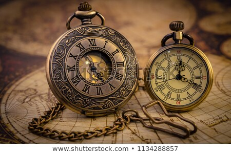 Vintage still life. Ancient world map isolated on white. Stock photo © cookelma