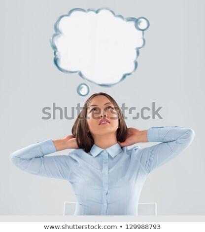 молодые · деловой · женщины · мышления · планов · лице - Сток-фото © hasloo