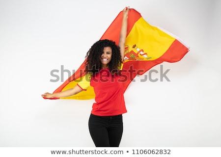 spain soccer fan with flag stock photo © gubh83
