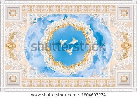 Estuco techo agradable castillo casa luz Foto stock © elxeneize