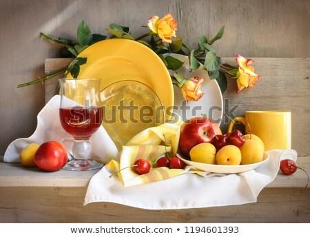 ストックフォト: レトロな · 静物 · キッチン · 果物 · ボトル