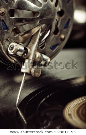 vintage phonograph close up shot with shallow depth of field Stock photo © tolokonov