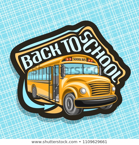 Stock photo: back to school stickers with vehicles