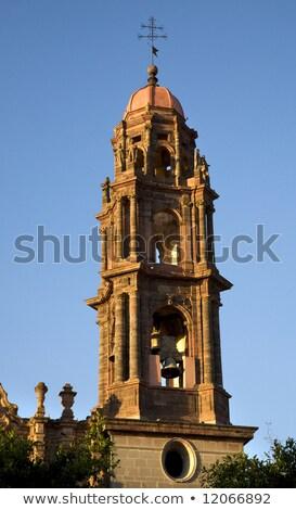 Photo stock: San · Francisco · église · cloche · tour · Mexique · pigeon