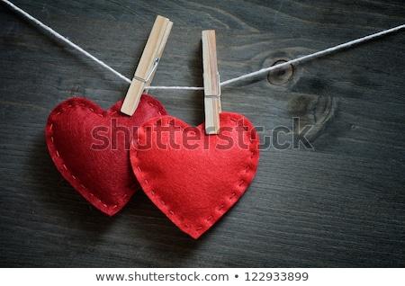 valentin · nap · piros · szív · szín · izolált · fehér - stock fotó © lunamarina