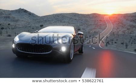 современных Спортивный автомобиль морем берега автомобилей фон Сток-фото © ArenaCreative