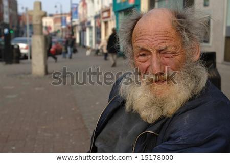 Hajléktalan lehangolt férfi sétál utcák Miami Stock fotó © ArenaCreative