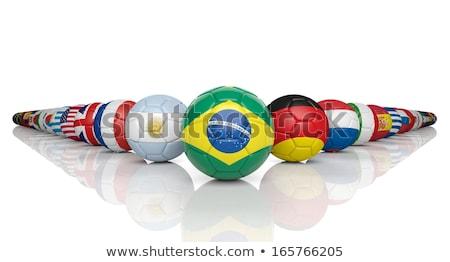 świat mistrzostwo 2014 Brazylia banderą piłka Zdjęcia stock © lirch