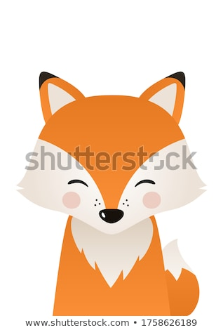 dessinées · cartoon · Fox · tête · rétro - photo stock © viva