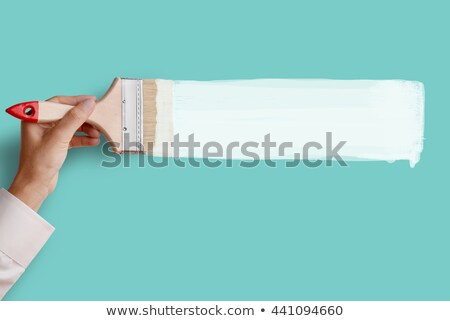 Pintor escove mão feliz trabalhador desenho animado Foto stock © vector1515