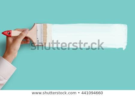 Peintre brosse main heureux travailleur cartoon Photo stock © vector1515
