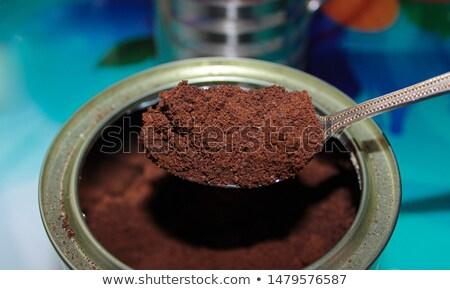 Kávé bab por energiaital konzerv kávé Stock fotó © SecretSilent