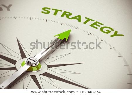 Expert advies business groene pijl leuze Stockfoto © tashatuvango
