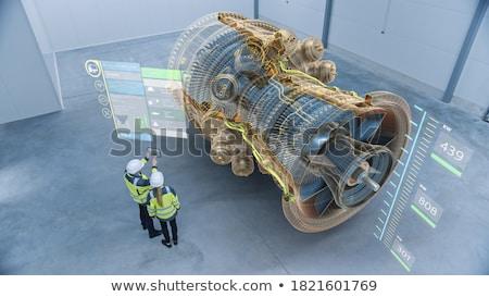 ışık pencere fabrika Retro motor motor Stok fotoğraf © Ariusz