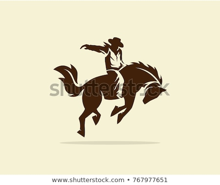 Horse rodeo silhouettes. Vector illustration Stock photo © leonido