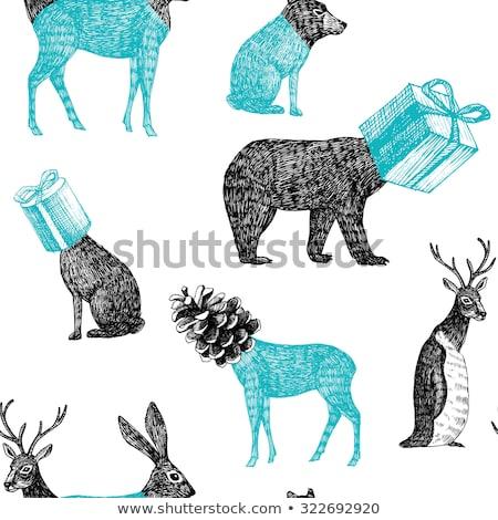 Natale cervo disegno geometrico vettore abstract design Foto d'archivio © beaubelle