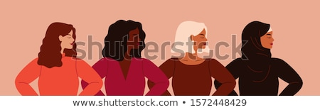 Stock photo: vector woman