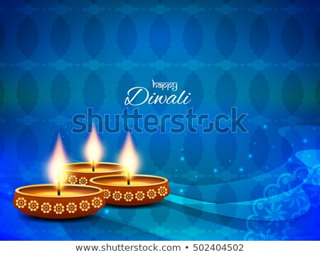 beautiful happy diwali blue bright colorful background vector stock photo © bharat
