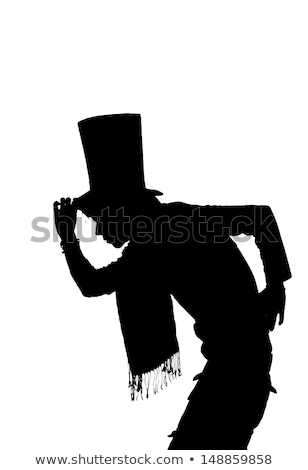 silhouette of a Handsome man with hat saluting Stock photo © pxhidalgo