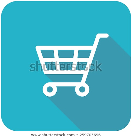 Panier bouton résumé fond bleu vente Photo stock © rioillustrator