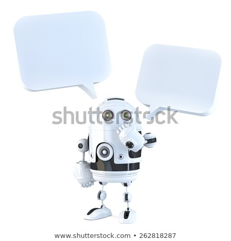 Android with dialogue bubble stock photo © Kirill_M