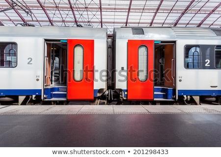 Dentro Bélgica estación de ferrocarril mármol escalera negocios Foto stock © compuinfoto