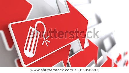 icon of tampon on red arrow stock photo © tashatuvango