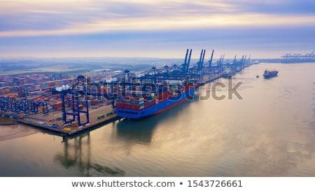 liman · buğu · gökyüzü · su · manzara - stok fotoğraf © rogerashford