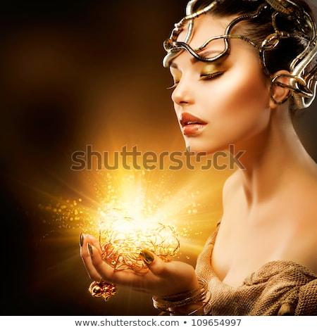 splendente · donna · occhi · trucco · chiuso · occhi - foto d'archivio © juniart