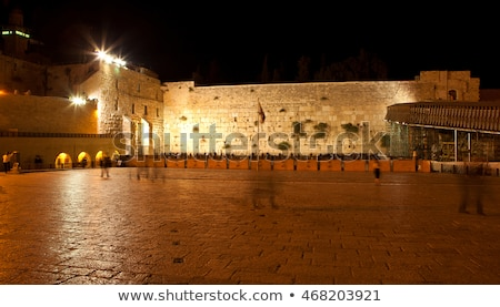 the western wall in jerusalem israel in the night stock photo © andreykr