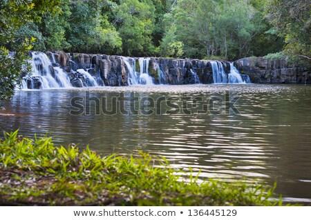 cachoeira · sol · pequeno · rocha · rio · movimento - foto stock © meinzahn