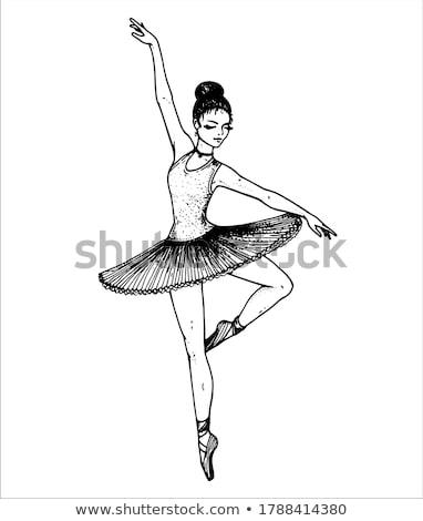 Ballerina schets ballet dans prestaties meisje Stockfoto © Aleksa_D
