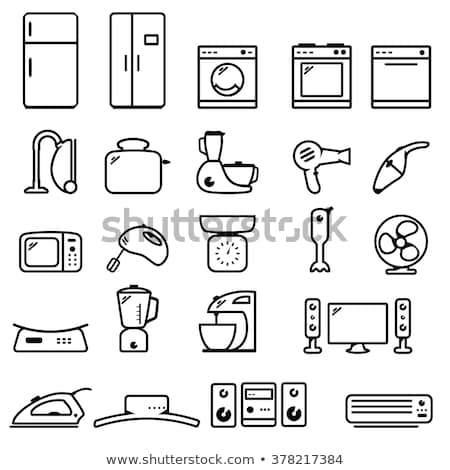 black household appliances icons stock photo © SergeyT