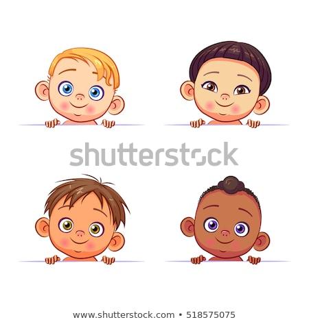 ártatlan szemek portré aranyos kislány intenzív Stock fotó © FOTOYOU