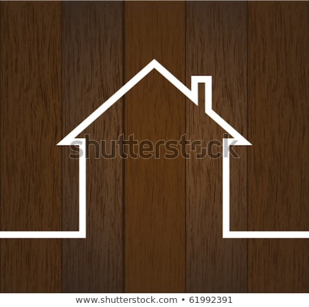New house with pine Stock photo © Aikon