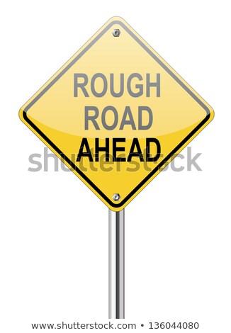 厳しい · 道路標識 · 警告 · にログイン · 青 · ダイヤモンド - ストックフォト © iqoncept