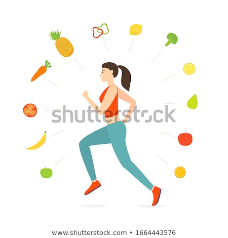 Lopen groenten cartoons weg geen Stockfoto © HouseBrasil