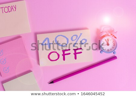 40 pourcentages vente quatre couleurs étiquettes Photo stock © marinini
