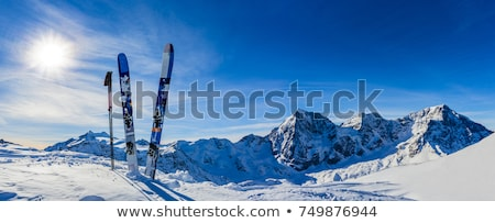 ski · montagnes · vallée · Autriche · nuages · sport - photo stock © janhetman