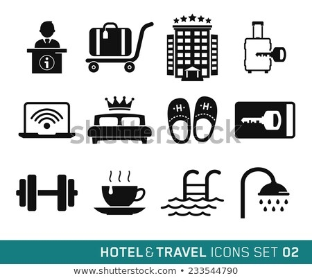 Stock fotó: Travel And Vacation Icons Set 02