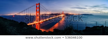 San Francisco Golden Gate Bridge tarde luz famoso tarde Foto stock © meinzahn