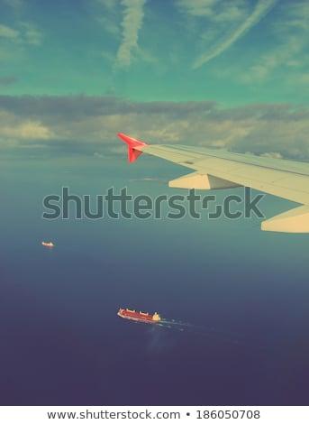 Navios asa avião vintage estilo retro carga Foto stock © Mikko