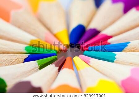 Kalem boya kalemleri farklı renkler beyaz Stok fotoğraf © Tagore75