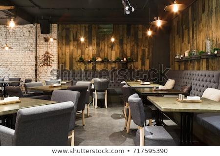 ресторан интерьер продовольствие свадьба вино стекла Сток-фото © Romas_ph