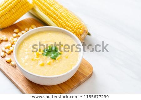 кукурузы суп лет обеда растительное столовой Сток-фото © M-studio