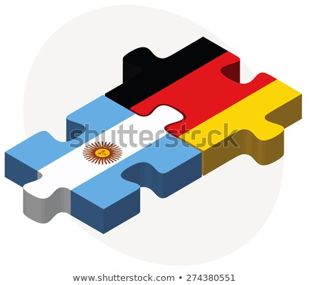 Argentinian Flag in puzzle isolated on white background Stock photo © Istanbul2009