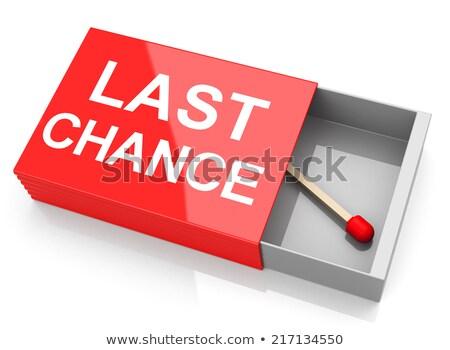 Utolsó esély 3D generált kép Stock fotó © flipfine