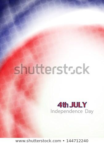 Foto stock: Estados · Unidos · américa · belo · vetor · azul
