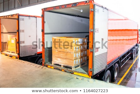 Stock photo: loading truck